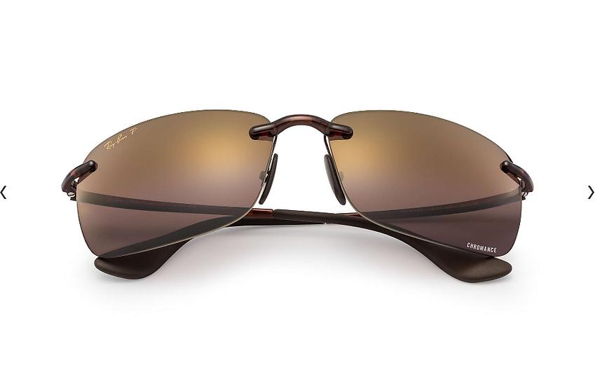 Ray-Ban RB4255 啡框紫色水銀CHROMANCE偏光鏡片太陽眼鏡