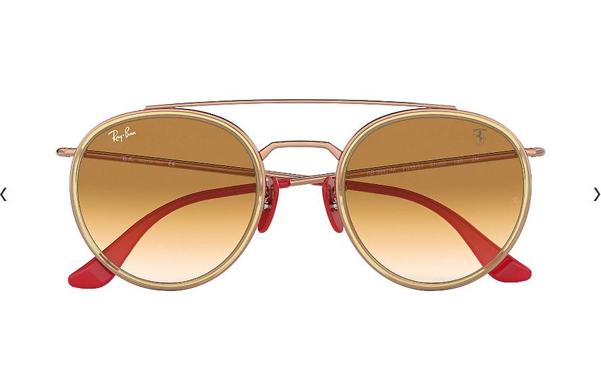 Ray-Ban X Scuderia Ferrari Limited Collection RB3647M 銅色框淺啡色漸變鏡片 太陽眼鏡