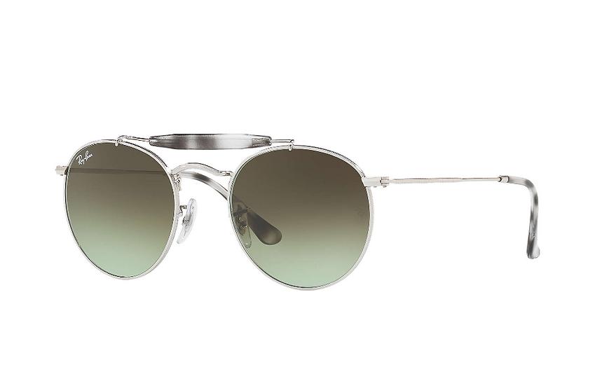 Ray-Ban RB3747 銀框綠色漸變鏡片 太陽眼鏡