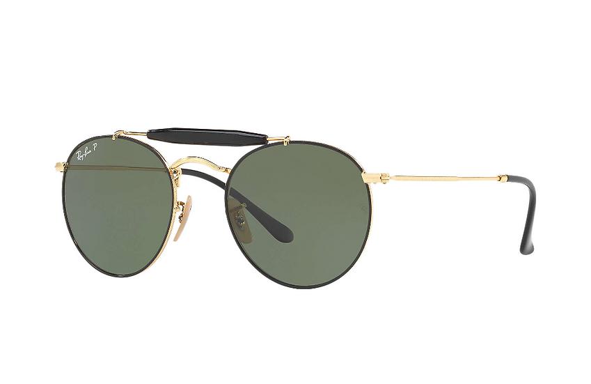 Ray-Ban RB3747 黑框偏光墨綠色鏡片 太陽眼鏡