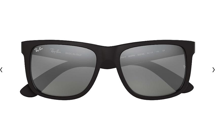 Ray-Ban RB4165F 啞黑色框灰色鏡片 Justin Color Mix Low Bridge Fit 太陽眼鏡