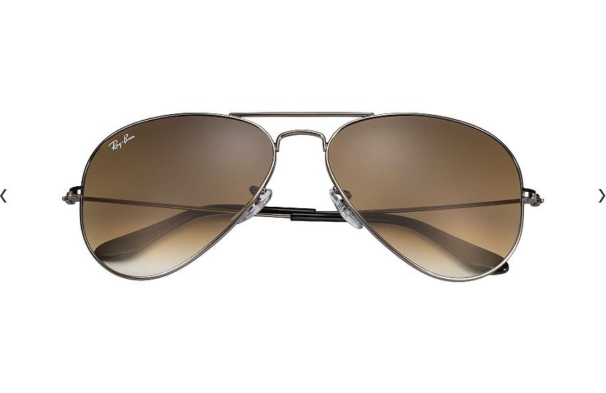 Ray-Ban RB3025 槍色框淺啡漸變鏡片 Aviator Gradient 太陽眼鏡