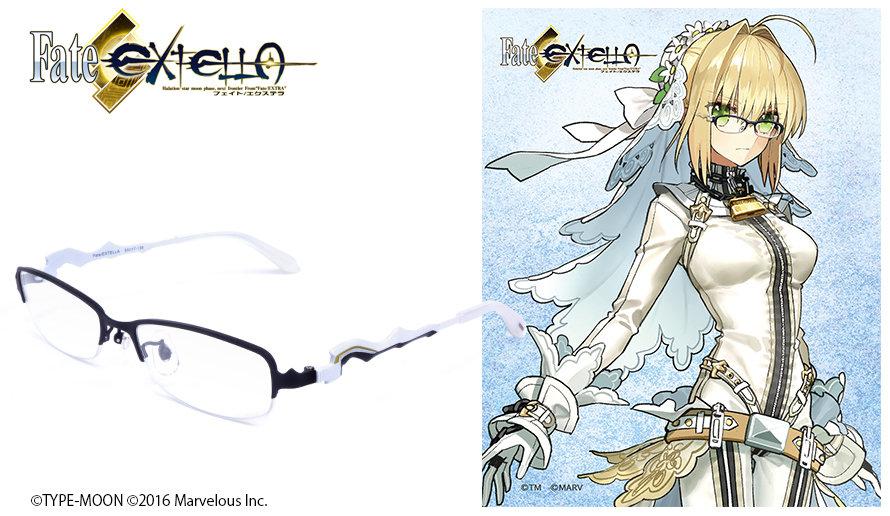 Fate/Extella眼鏡系列 ネロ・クラウディウス 造型光學眼鏡 束縛の花嫁衣装ver.  送1.56不反光度數鏡片