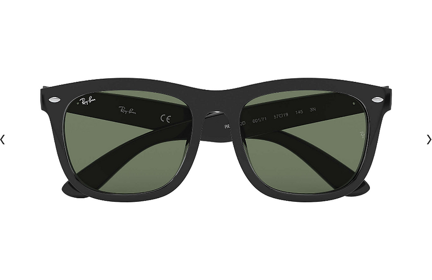Ray-Ban RB4260D 啞黑色框綠色鏡片 太陽眼鏡