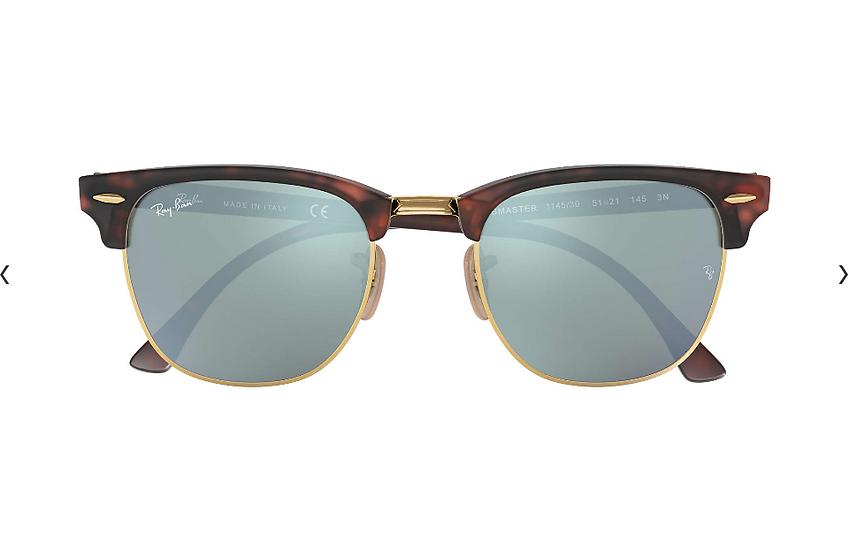 Ray-Ban RB3016 玳瑁啡色銀色水銀鏡片 Clubmaster Flash Lenses 太陽眼鏡