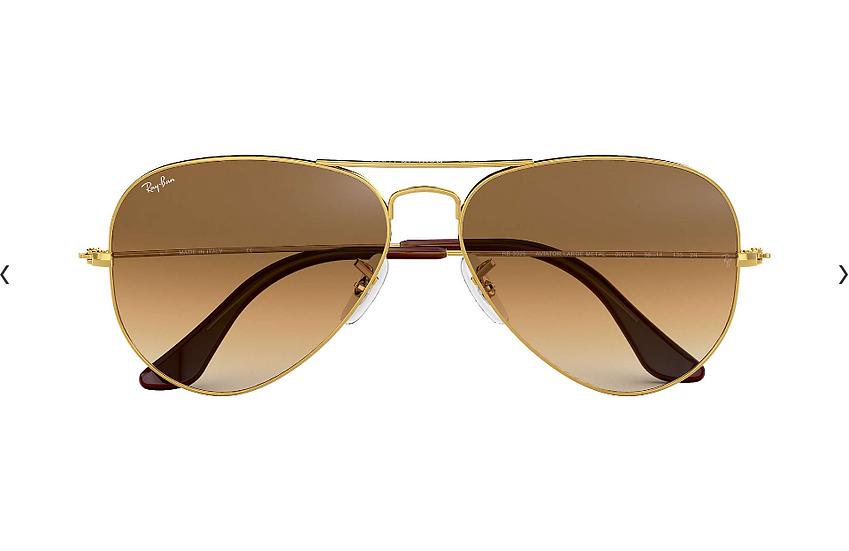 Ray-Ban RB3025 金框淺啡漸變鏡片 Aviator Gradient 太陽眼鏡