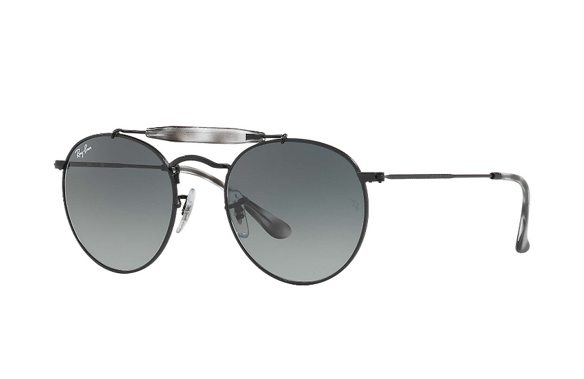 Ray-Ban RB3747 黑框灰色漸變鏡片 太陽眼鏡