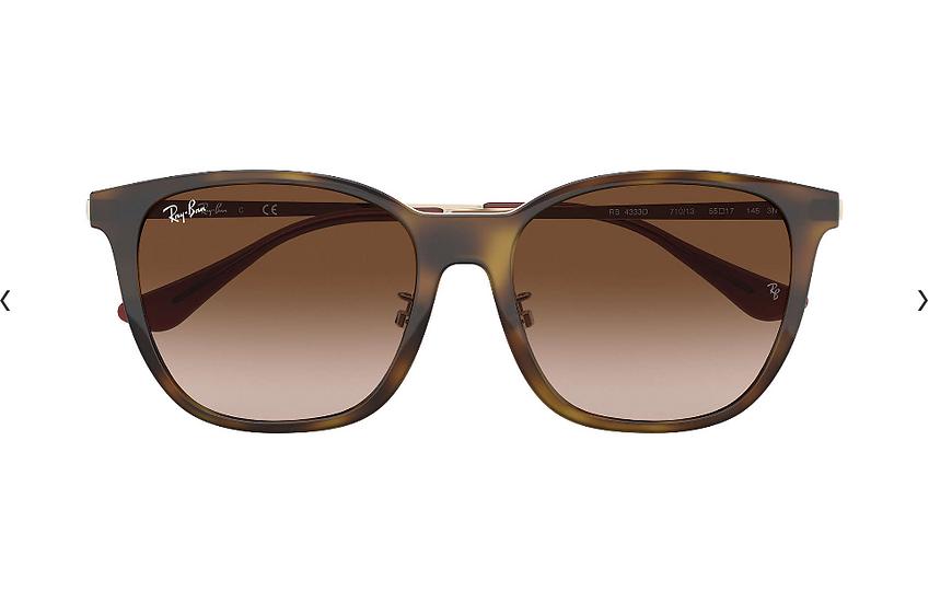 Ray-Ban RB4333D 玳瑁啡色框啡色淺變鏡片 太陽眼鏡