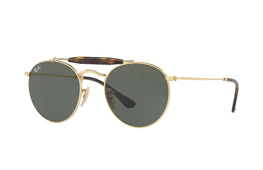 Ray-Ban RB3747 金框墨綠色鏡片 太陽眼鏡