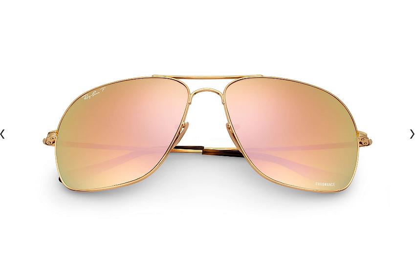 Ray-Ban RB3587CH  金框金色偏光鏡片 太陽眼鏡