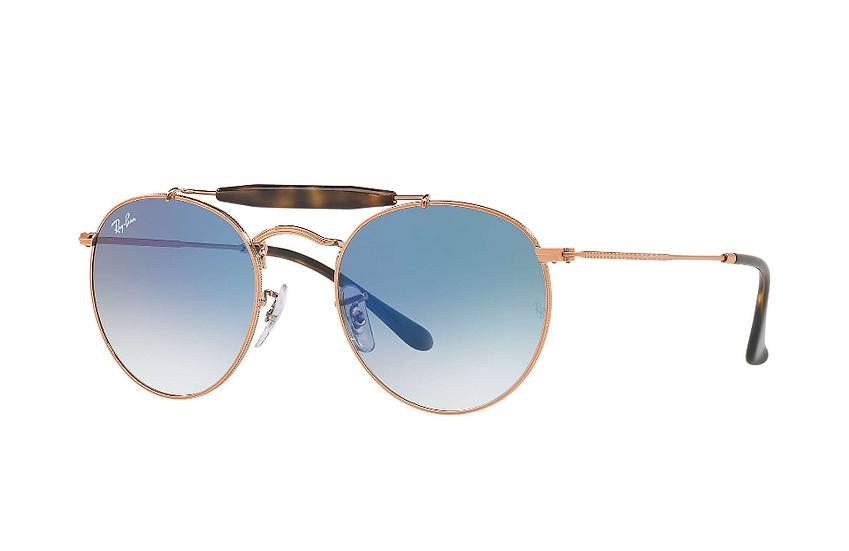 Ray-Ban RB3747 銅色框淺藍色漸變鏡片 太陽眼鏡