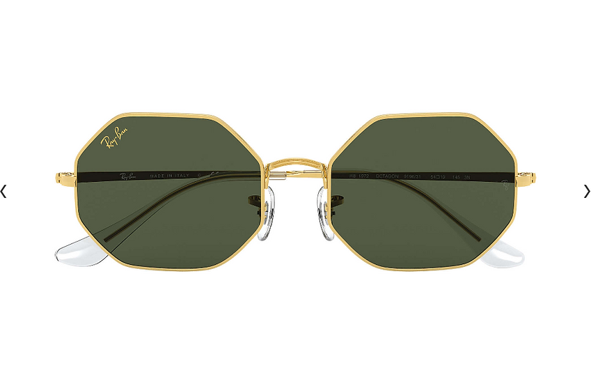 Ray-Ban RB1972 金框墨綠色鏡片 OCTAGON 1972 太陽眼鏡