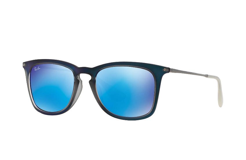 Ray-Ban RB4221F 藍色框藍色水銀鏡片 太陽眼鏡