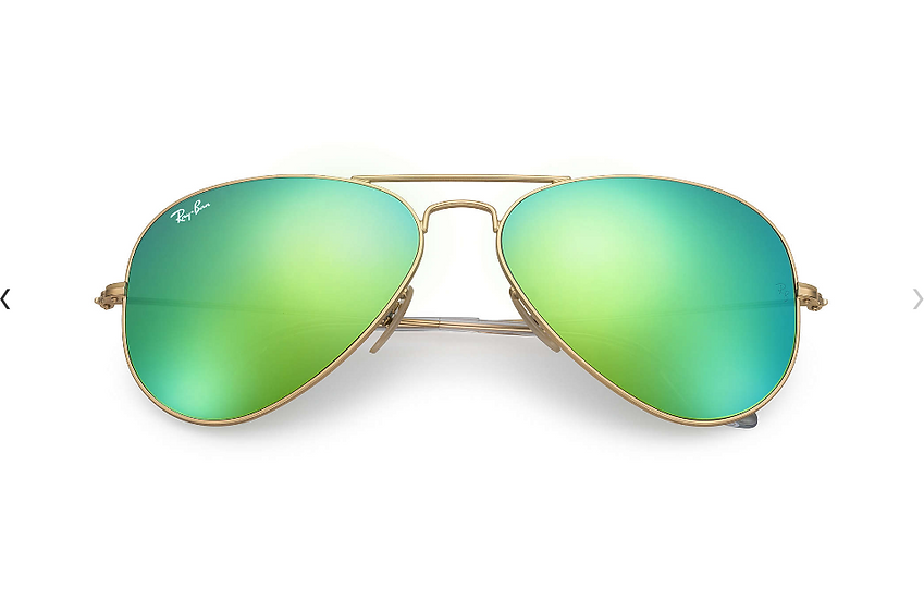 Ray-Ban RB3025 金框綠色水銀鏡片 Aviator Flash Lenses 太陽眼鏡