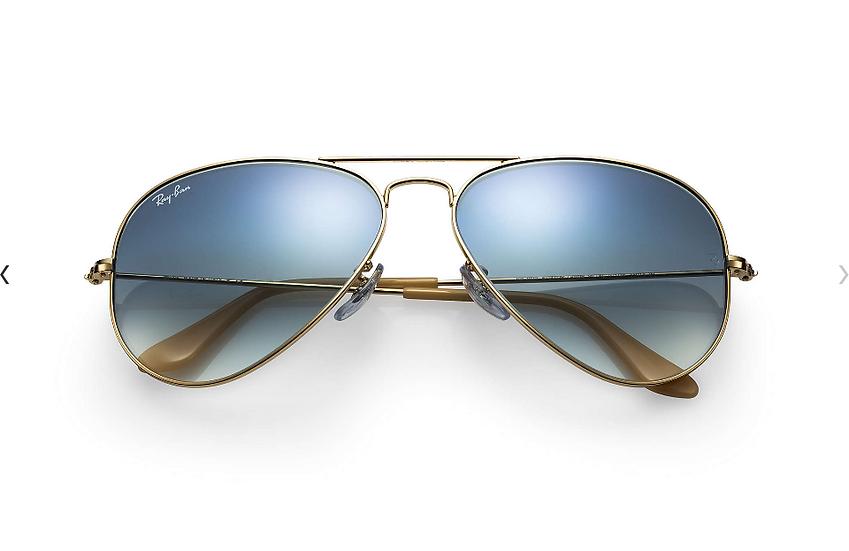 Ray-Ban RB3025 金框淺藍漸變鏡片 Aviator Gradient 太陽眼鏡