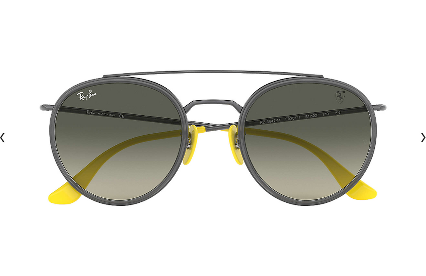Ray-Ban X Scuderia Ferrari Limited Collection RB3647M 槍色框灰色漸變鏡片 太陽眼鏡