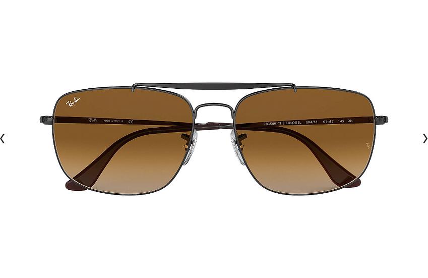 Ray-Ban RB3560 COLONEL 槍色框淺啡色漸變鏡片 太陽眼鏡