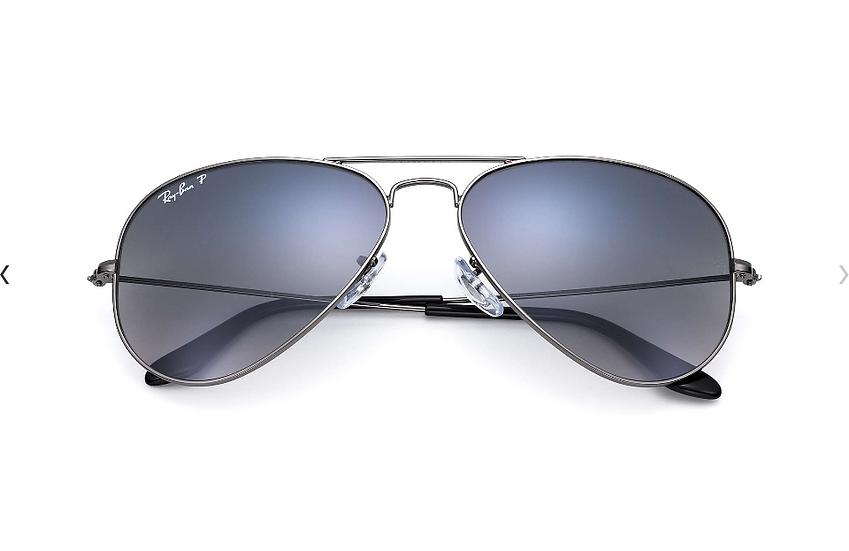 Ray-Ban RB3025 槍色框偏光藍灰漸變鏡片 Aviator Gradient 太陽眼鏡