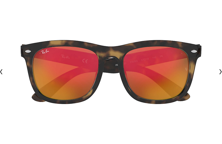 Ray-Ban RB4260D 玳瑁啡色框橙色水銀鏡片 太陽眼鏡