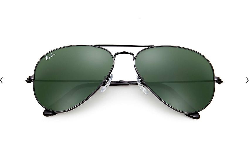 Ray-Ban RB3025 黑框墨綠鏡片 Aviator Classic 太陽眼鏡