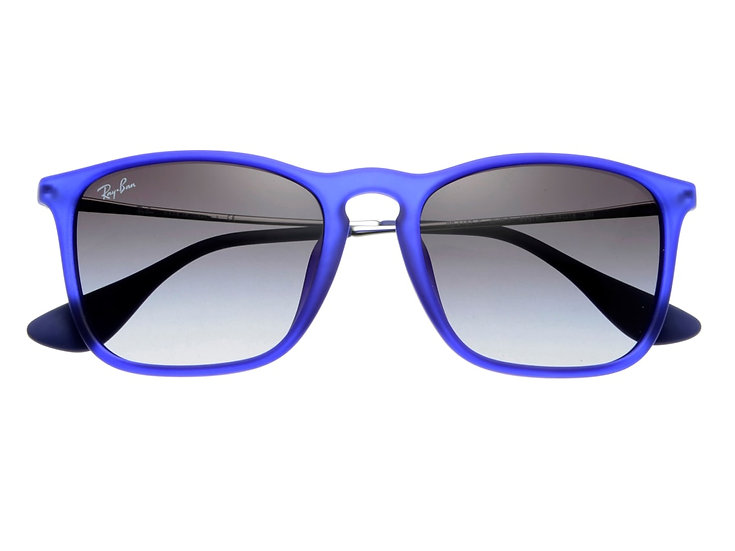 Ray-Ban RB4187F 紫色框灰色鏡片 Chris Low Bridge Fit 太陽眼鏡