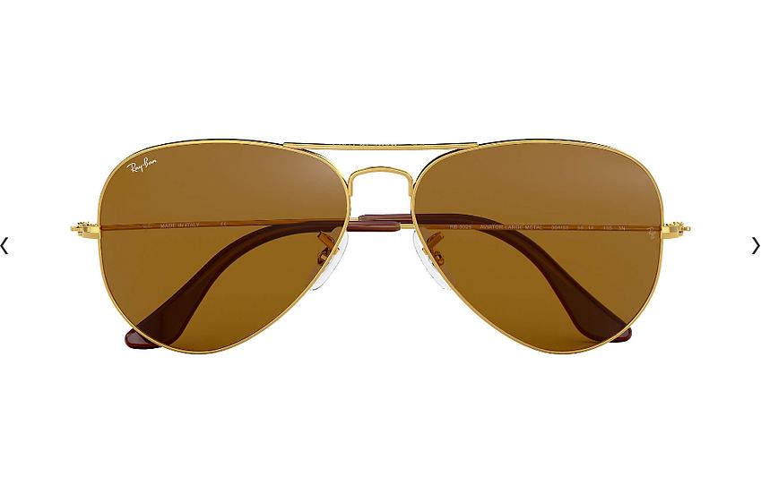 Ray-Ban RB3025 金框茶色鏡片 Aviator Classic 太陽眼鏡