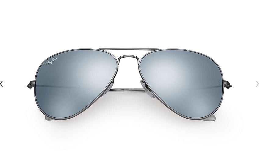 Ray-Ban RB3025 槍色框銀色水銀鏡片 Aviator Flash Lenses 太陽眼鏡