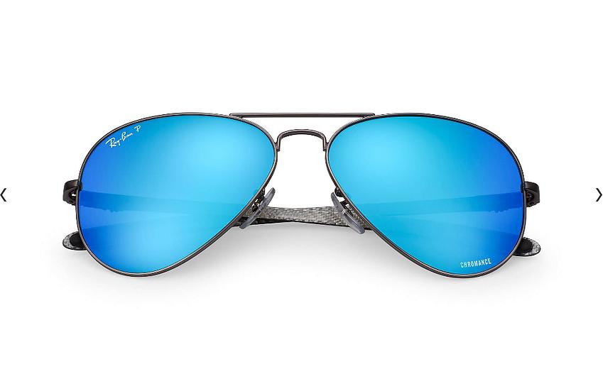 Ray-Ban 碳纖系列 RB8317CH 槍色框藍色偏光鏡片 太陽眼鏡