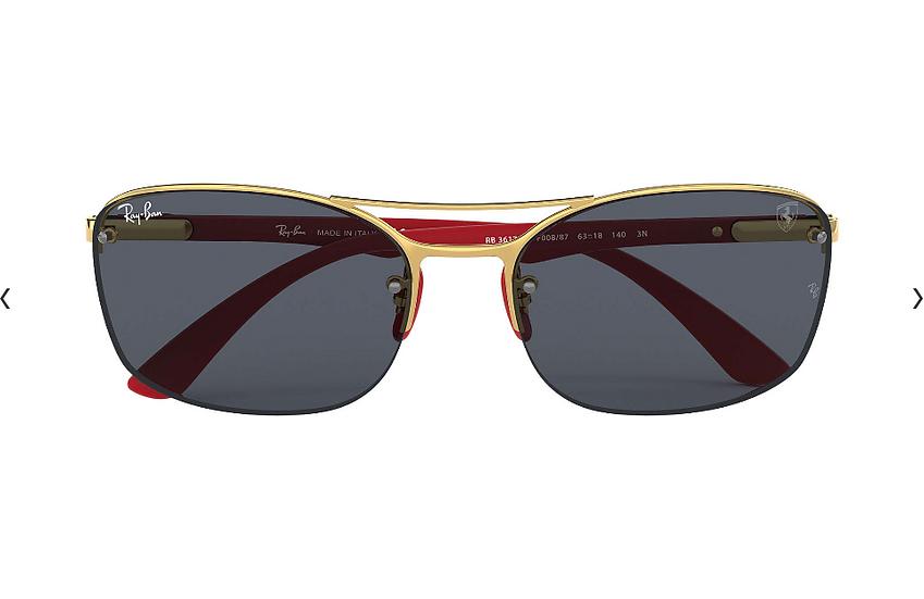 Ray-Ban X Scuderia Ferrari Limited Collection RB3617M 金紅框深灰色鏡片 太陽眼鏡