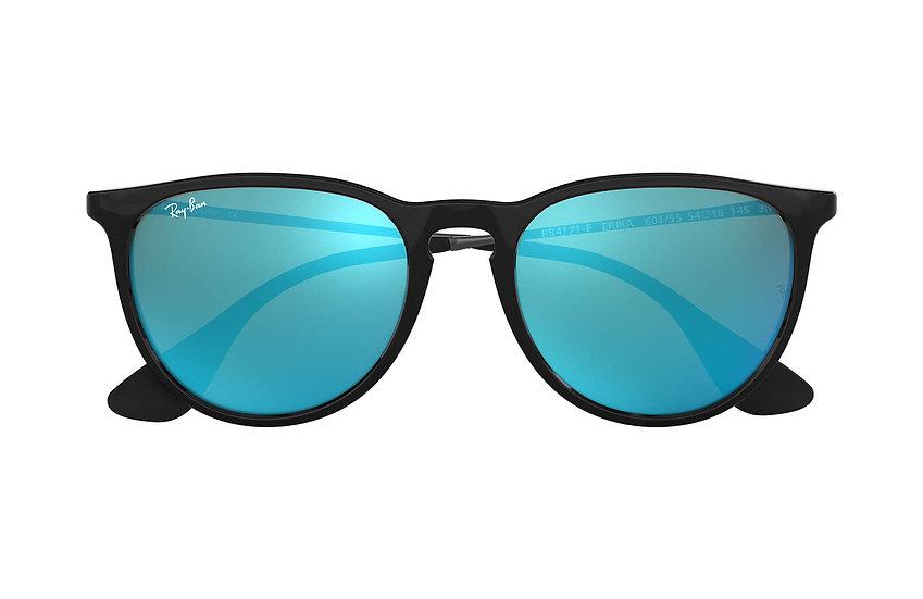 Ray-Ban RB4171F 黑色框藍色鏡片 Erika Color Mix Low Bridge Fit 太陽眼鏡