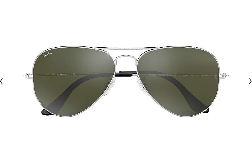 Ray-Ban RB3025 銀框灰色水銀鏡片 Aviator Mirror 太陽眼鏡