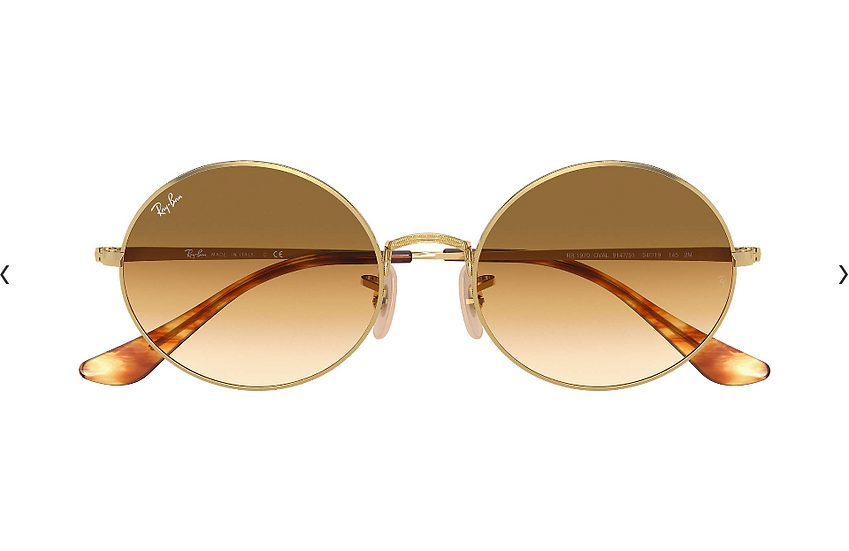 Ray-Ban RB1970 金框淺啡色漸變鏡片 OVAL 1970 太陽眼鏡