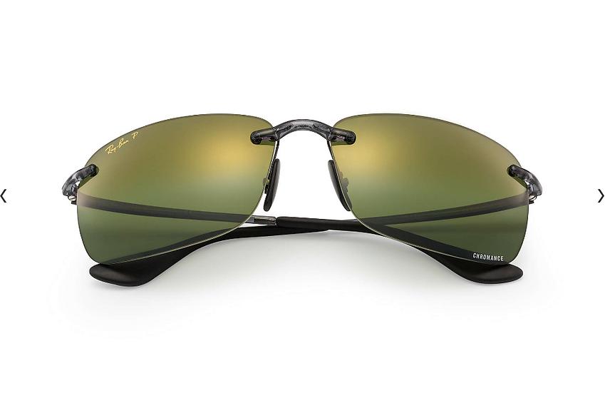 Ray-Ban RB4255 灰框綠色水銀CHROMANCE偏光鏡片太陽眼鏡