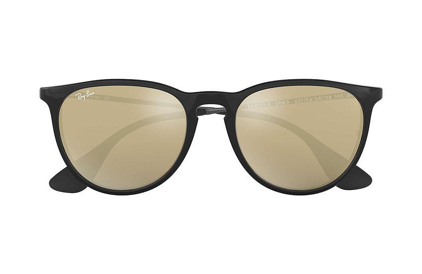 Ray-Ban RB4171F 黑色框金色鏡片 Erika Color Mix Low Bridge Fit 太陽眼鏡