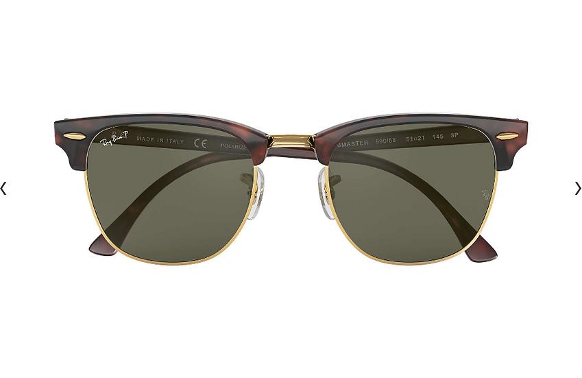 Ray-Ban RB3016 玳瑁啡色墨綠偏光鏡片 Clubmaster Classic Polarized 偏光太陽眼鏡
