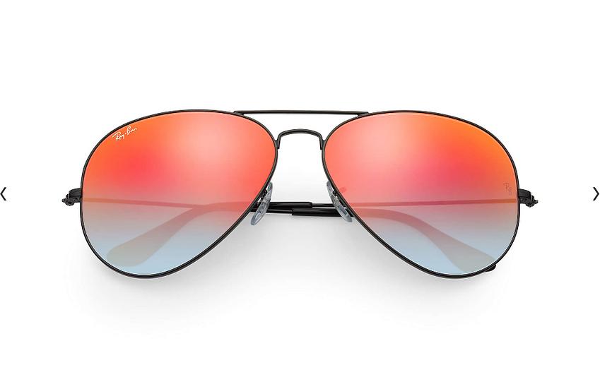 Ray-Ban RB3025 黑框橙色漸變鏡片 Aviator Flash Lenses Gradient 太陽眼鏡