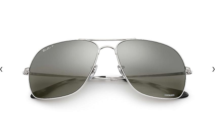 Ray-Ban RB3587CH  銀框灰色偏光鏡片 太陽眼鏡