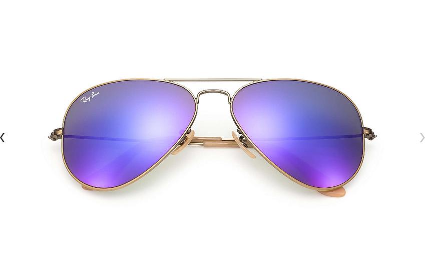 Ray-Ban RB3025 銅色框紫色水銀鏡片 Aviator Flash Lenses 太陽眼鏡