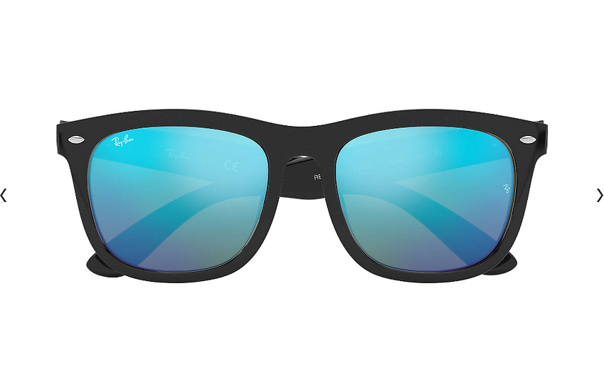 Ray-Ban RB4260D 黑框藍色水銀鏡片 太陽眼鏡