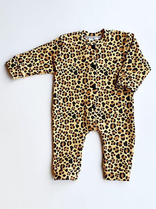 Leopard Print Sleepsuit, Baby Grow