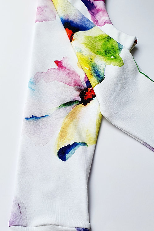 Watercolour flowers leggings