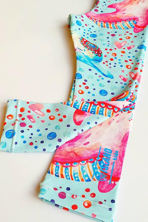 Mandala Dolphin Girls Legging