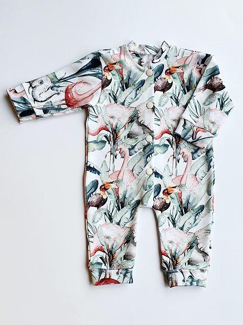 Jungle Flamingo Sleepsuit, Baby Grow