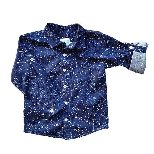 Celestial button up shirt
