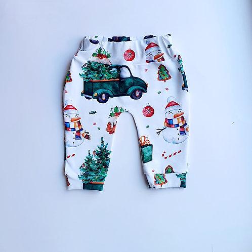 Green Truck and Tree leggings