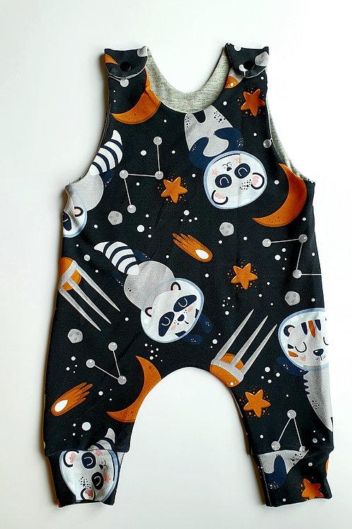 Racoon Astronaut LONG Romper