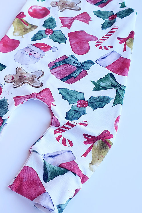 Red, Green & White Classic Christmas Romper