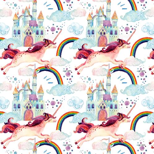 Unicorns rainbows castles - Jersey