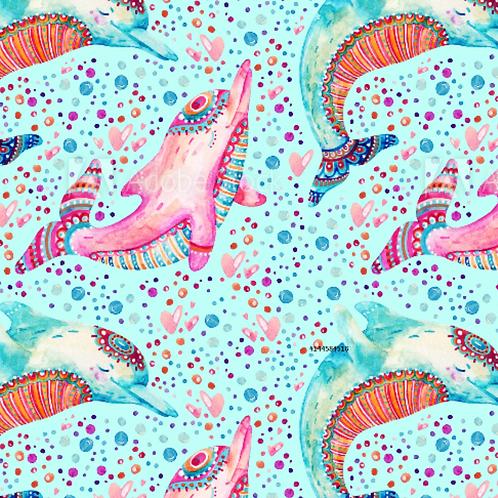 Mandala Dolphin- Jersey