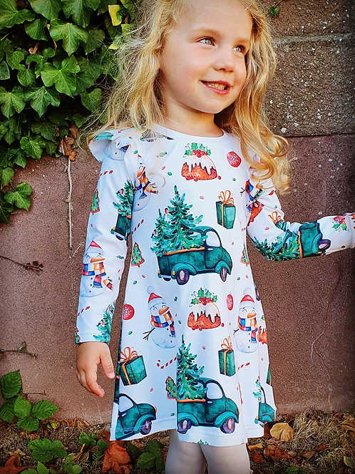 Green Truck and Tree Dress